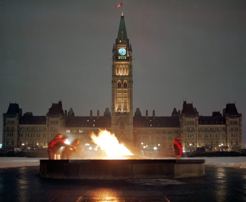 365-17 Ottawa Parliament at night