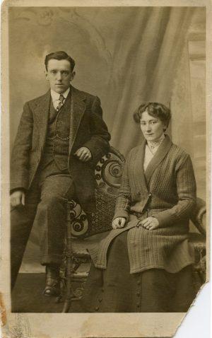 Vintage family photograph circa 1916